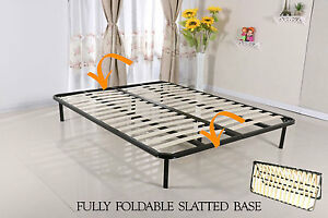 Bed Slatted Folding Guest Bed Base In Single Double King