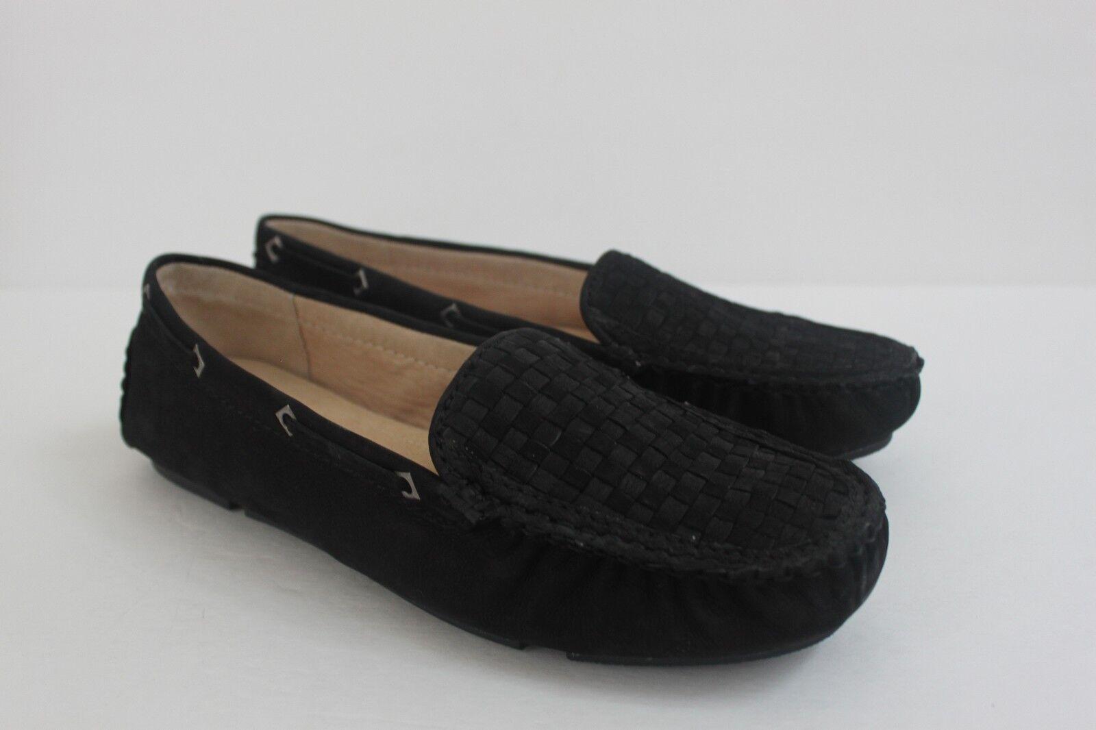 Alex Marie Femme Chaussure Noir Taille 7 cuir de chèvre cuir tissé Pilotes Mocassins