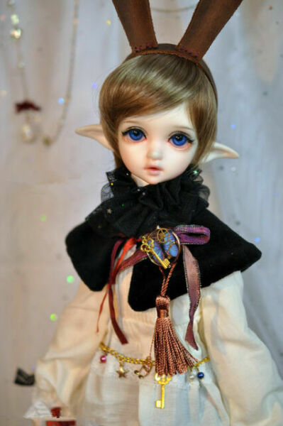 Eyes Face up 1//4 BJD Girl Doll Elf Head Two Version Resin Ball Jointed Doll
