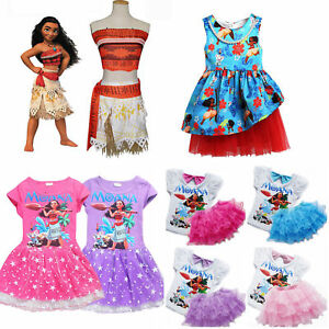 Image is loading New-Moana-Disney-Costume-Girls-Princess-Fancy-Cosplay-  sc 1 st  eBay : disney costume kids  - Germanpascual.Com
