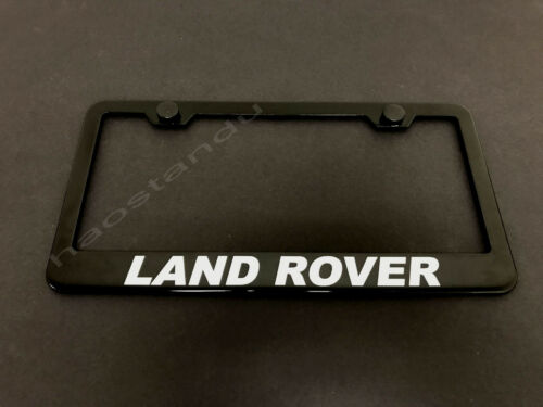 Screw Caps 1xLandRover BLACK Stainless Metal License Plate Frame