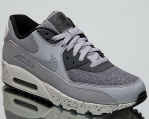 5511485bbc7c Nike Air Max 90 Premium Men s New Neutral Wolf Grey Casual Sneakers ...