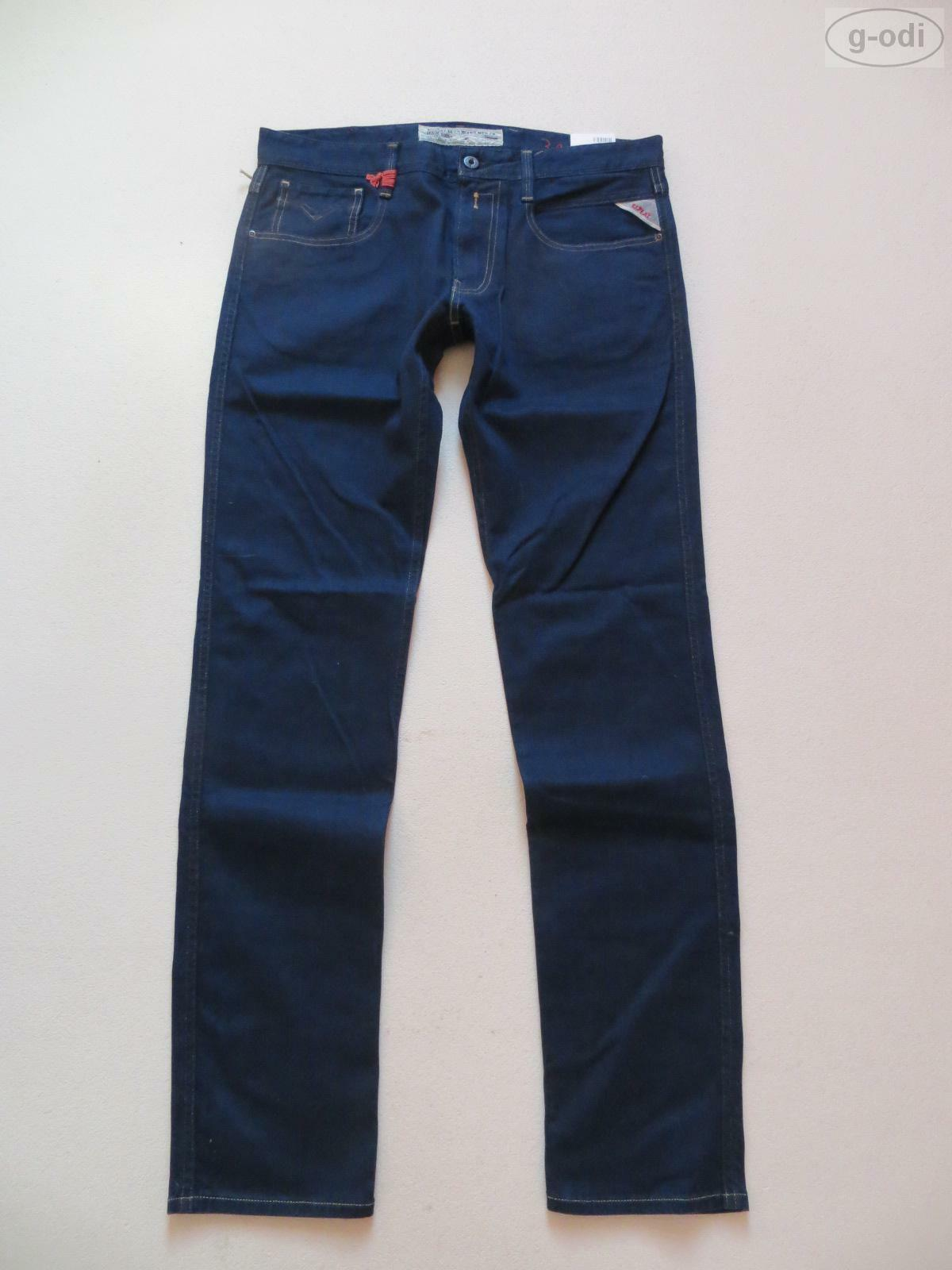 Replay ANBASS Skinny Fit Jeans Hose, W 34  L 34, NEU   Indigo Stretch Denim   50