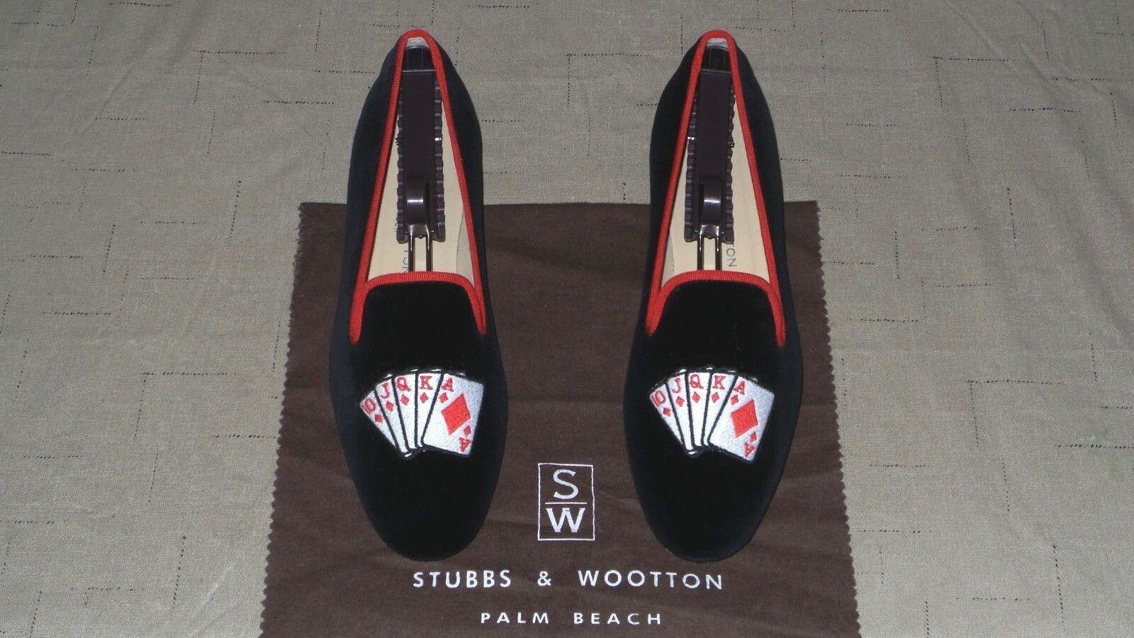 Lindo  Mujer  450 Stubbs and wootton Velvet Velvet Velvet  Royal Flush  Zapatillas Mocasines Zapato  moda clasica