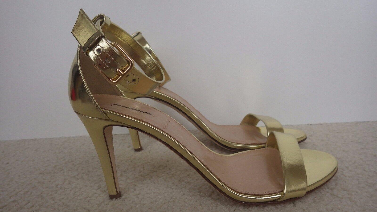 New Damens J.Crew Mirror Metallic High-Heel Sandale, Gold, Größe 9.5