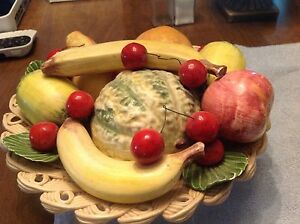 Ceramic Fruit Bowl Hand Made In Italy Table Centerpiece Ebay