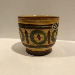 Vintage-Pottery-BPF-Heffen-Belgium-Vase-Pot-MidCentury-Hand-Painted-Ceramic