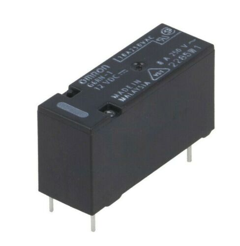 4 pcs G6RN-1-12DC  OMRON  Relais 1xU  SPDT  12VDC 8A 655R  NEW #BP