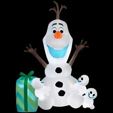christmas santa 6 ft frozen olaf snowman snowgies disney airblown inflatable - Disney Frozen Outdoor Christmas Decorations