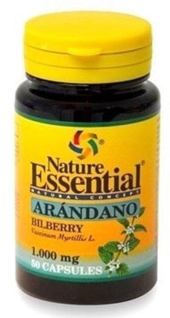 Arandano Capsulas 1000Mg Nature Essential 50 Capsulas