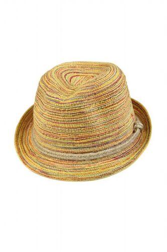 Mehrfarbiger Damen Sonnenhut Strohhut Damenhut Sommerhut Sonnenschutz-Hut U N3A6