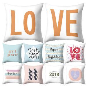 Am-KF-Letter-Love-Hello-2019-Throw-Case-Cushion-Cover-Sofa-Bed-Car-Cafe-Decor