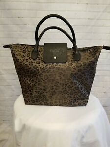 1eef7539d4fa Chico's Leopard Animal Print Small Folding Roll Tote Bag New NWT | eBay