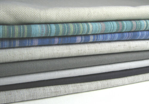 "90cm 45/% Linen 55/% Cotton Solid Linen Fabric 56/""  Eco Quality CLEARANCE"