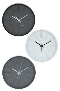 Reloj Redondo Pared Contemporáneo Monocromo Detalles De tQsrxdCh