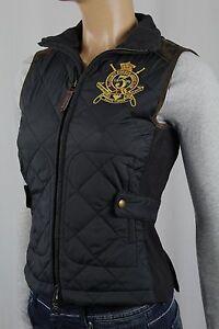Ralph-Lauren-Sport-Black-Equestrian-Crest-Suede-Vest-NWT