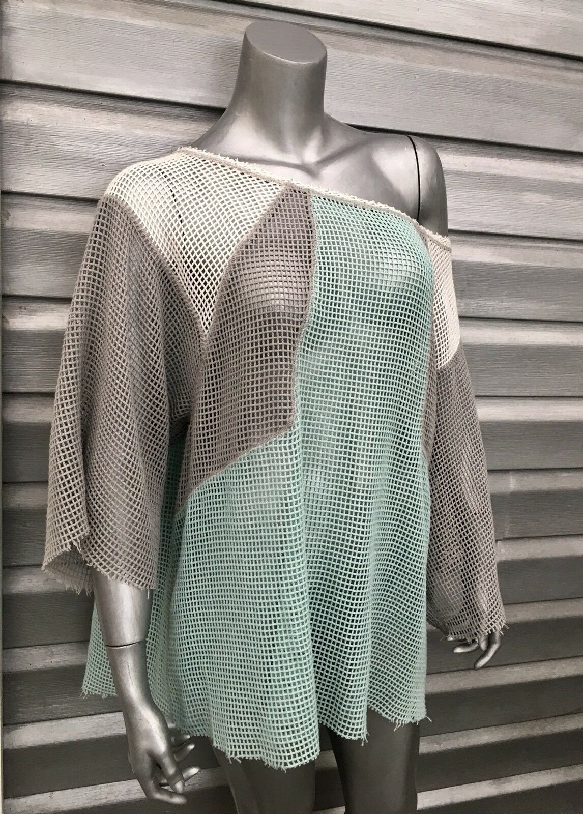 FREE PEOPLE Oversized Net Crochet Boho Tunic Top