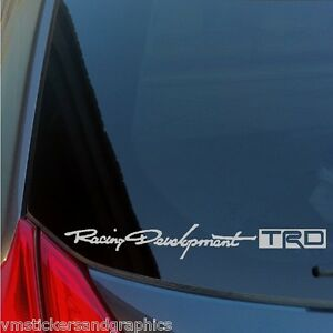 Two-Racing-Development-TRD-vinyl-stickers-decals-Toyota-JDM-Scion-supra-tacoma