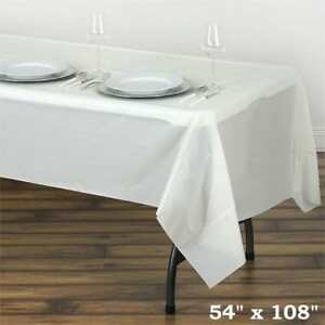Image Is Loading Ivory Rectangle 54x108 034 Disposable Plastic Table Cover