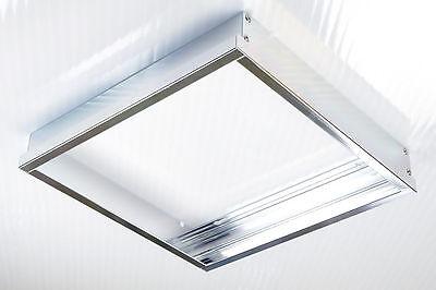 20x LUMIXON LED Panel Rahmen Halterung 60x60x5cm für Wand und Decke Alu Mattiert