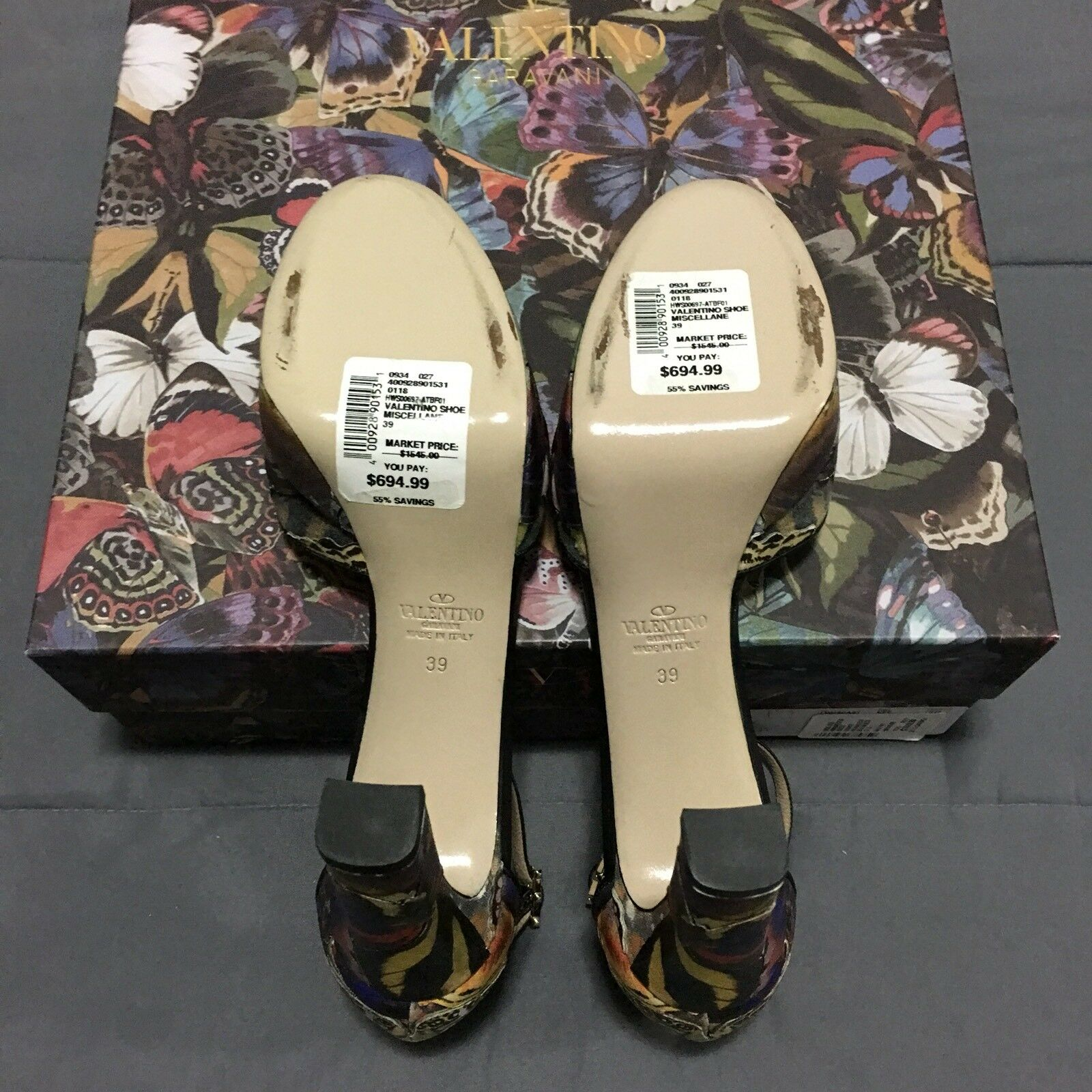 Valentino Garavani Camubutterfly Camo Multi Color Size Stud Heels schuhes Italy Size Color 39 f95101