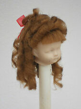 ANTIQUE DOLL ENGLISH MOHAIR WIG, BJD DOLL WIG LIGHT BROWN RINGLET