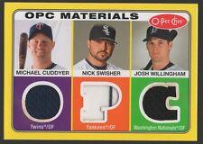 2009 O-PEE-CHEE MATERIALS #CSW NICK SWISHER/MICHAEL CUDDYER/JOSH WILLINGHAM