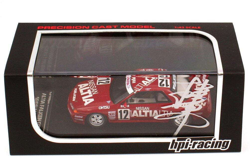 1 43 nissan skyline GT-r r32 n1 1992 Altia racing  faucon 12 Katura Hara-signed  votre satisfaction est notre cible