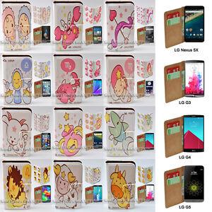 For-LG-G-Series-Stylus-DAB-Nexus-5X-Zodiac-Print-Wallet-Flip-Phone-Case-Cover