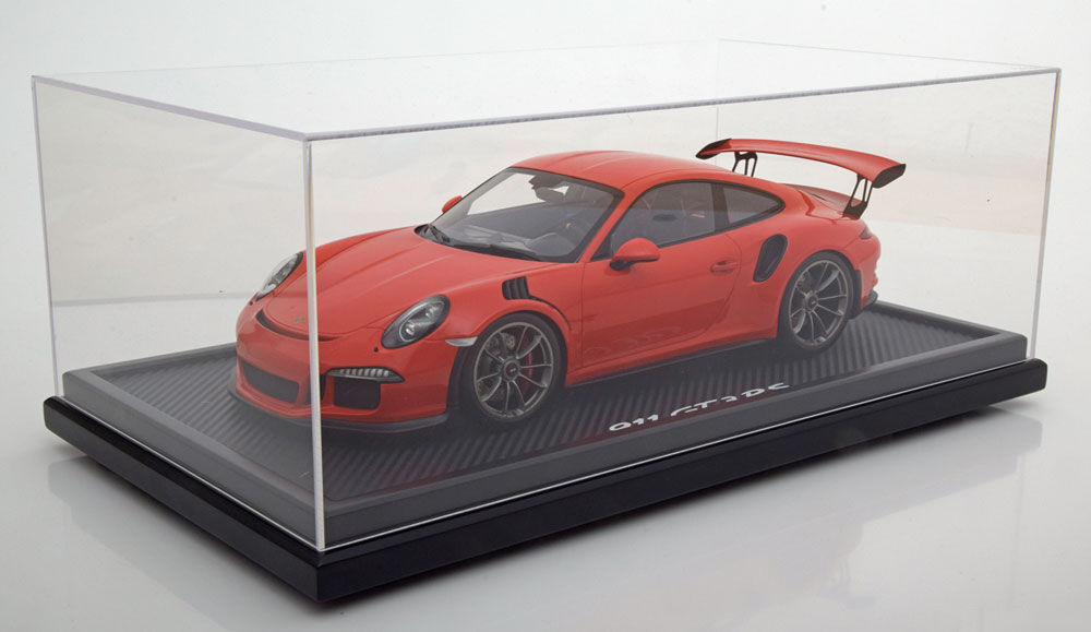 Spark Porsche 911 (991) GT3 RS Lava orange w Display Dealer LE of 200 1 12 Scale