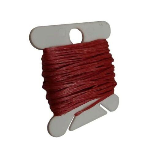 Wachsband 1mm Sattlergarn Weinrot Geflochtet 100/% Polyester Fäden C324
