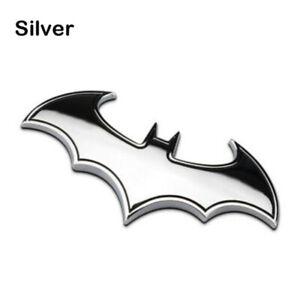 3D Batman Tail Decal Car Motorcycle Logo Sticker Decor Chrome Metal Badge Emblem