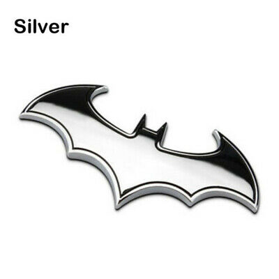 Chrome Metal Badge Emblem Batman Logo 3D Tail Trunk Auto Car Motorcycle Sticker