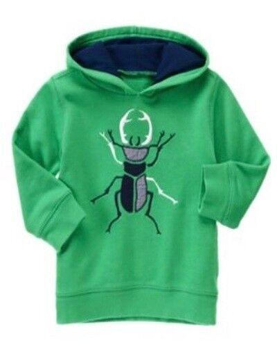 Gymboree Backyard Explorer 2T 3T Green Bug Hoodie Pull Over