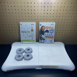 Nintendo Wii Balance Board With Wii Fit & Shaun White Snowboarding+Feet-Tested