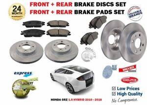 2016 for Honda CR-Z Brake Rotors and Ceramic Pads Front
