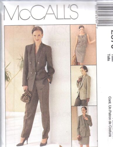 UNCUT McCalls Sewing Pattern Misses Lined Jacket Top Pants Skirt 2370 FF SEW OOP