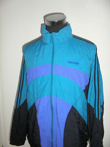 vintage-80-s-ADIDAS-Nylon-Jacke-Sportjacke-Trainingsjacke-gym-80er-oldschool-XL