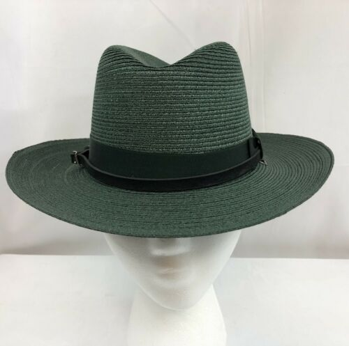 Vtg. Stratton Western Straw Hat Self Forming Cowbo
