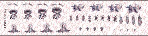 Danny Trejo ou machette Inspiré Pack-Waterslide Decals Échelle 1//18 tatouages