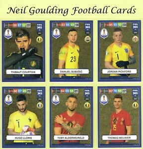 213d218b96d73 Details about Panini FIFA 365 2019 ☆ WORLD CUP HEROES ☆ Gold Football Cards  #352 to #396