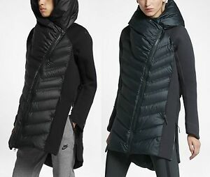 Nike womens black parka