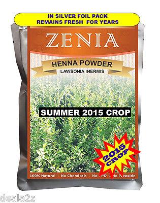 2015 Crop 1lb Zenia Pure Henna Mehendi Powder Body Art Quality No Chemicals BAQ