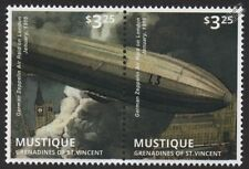 WWI 1915 Zeppelin Airship Bombing Air Raid London & Houses of Parliament Stamps