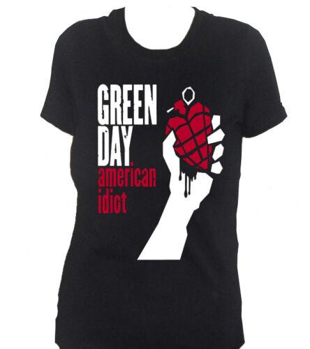 fm10 t-shirt donna GREEN DAY Billie Mike Cool MUSICA