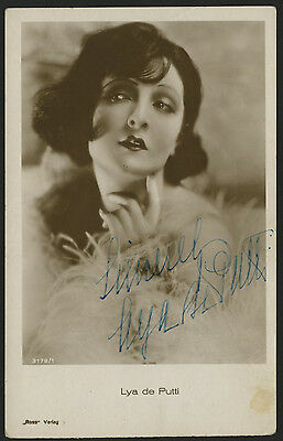 Lya de Putti Movie Star Actress Autograph Ink Signed Ross 3178/1 Photo Postcard