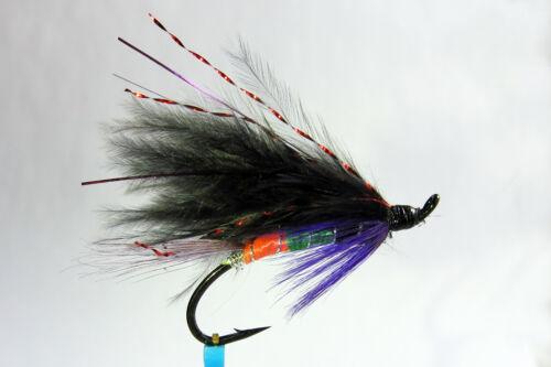 1 x mouche Saumon SIGNAL LIGHT SINGLE hook salmon fly steelhead hairwing fliegen