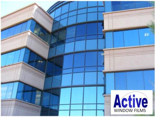 MIRROR BLUE PRIVACY ONE WAY WINDOW TINTING PRO TINT FILM 50cm x 10m