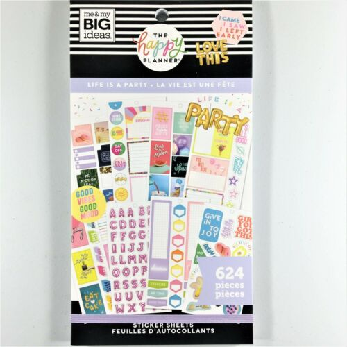 The Happy Planner Life Is A Party Sticker Book Pack Of 624 Me /& My Big Ideas