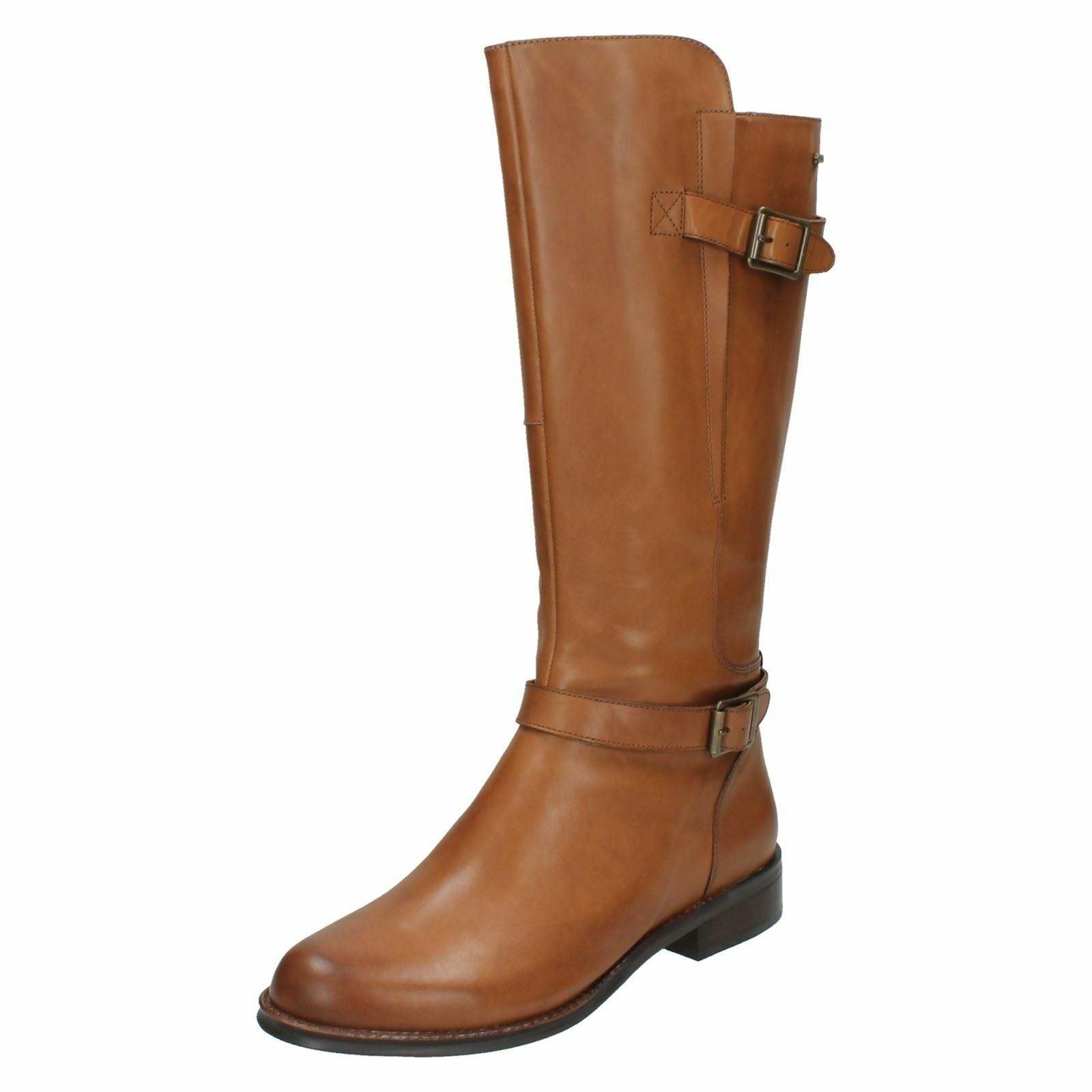 Damas Clarks Gore-Tex botas de cuero larga-Mara Vale GTX